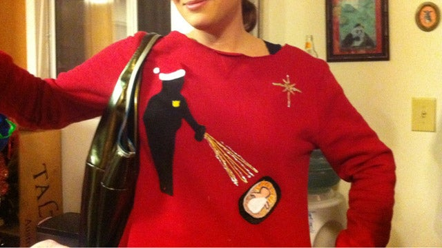 The Best Pepper-Spraying Baby Jesus Christmas Sweater Ever Made