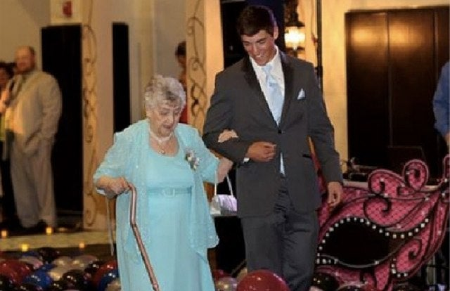 High School Senior Takes His Great-Grandmother to Her First Prom