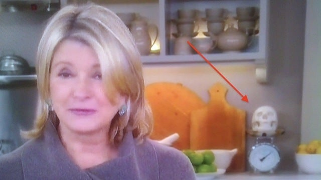 Why Does Martha Stewart Have a Human Skull in Her Kitchen?