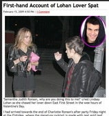 Lindsay Lohan Fights With Girlfriend In First Hour of Valentine's Day