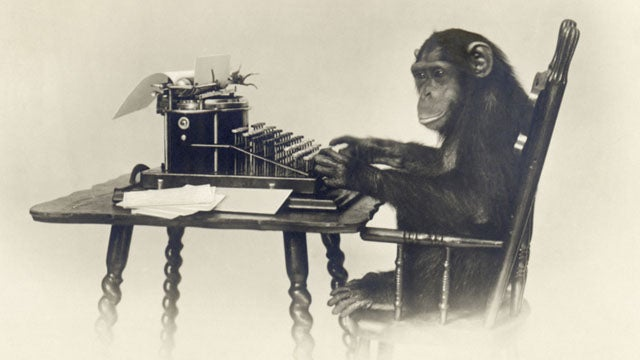 Monkeys on Typewriters 'Close to Reproducing Shakespeare'