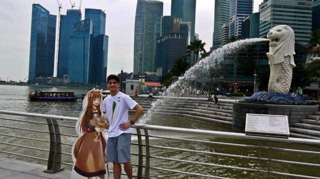 This Man's Asia Honeymoon. With a Cardboard Girl.