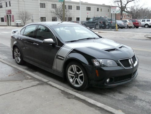 2008 Pontiac G8 Spotted Decked Out In Racey Duds