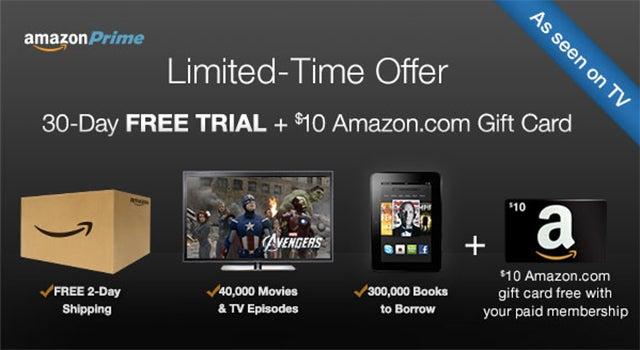 Dealzmodo: Last Day To Get $10 Bonus Credit With Amazon Prime