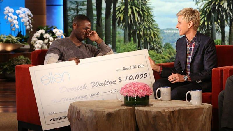 Your Evening Cry: Ellen Gives Good Samaritan $10,000 To Feed Needy