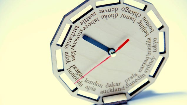 This Analog Clock Has the Correct Time for 24 Different Time Zones Around the World