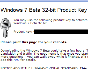 How to Get Your Windows 7 Beta Product Key