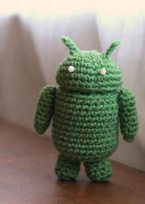 A Crocheted Android Robot