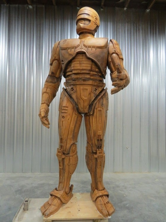 Giant RoboCop Statue Rises Just As Detroit Falls Into Financial Abyss