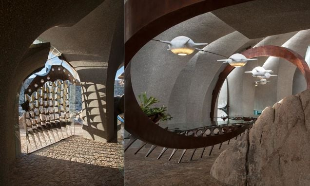Desert house looks like Mars outpost outside and Game of Thrones inside
