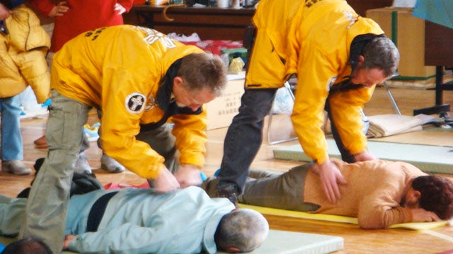 Scientologists Touch-Heal Japanese Tsunami Victims
