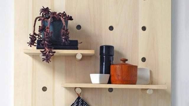 Build an Attractive Pegboard Shelving System for Any Room