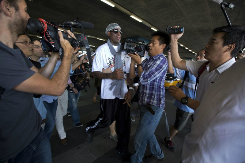 Rodman Leaves North Korea, Curses Out Obama