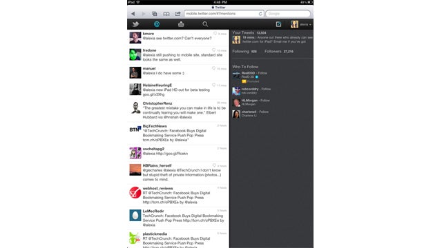 Twitter's Growing Up With a Beautiful HTML5 Website For iPad