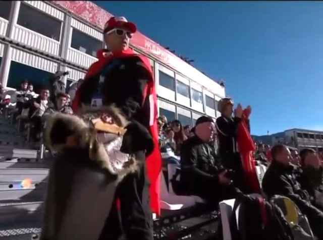 Here's A Swiss Ski Fan Humping A Giant Bell
