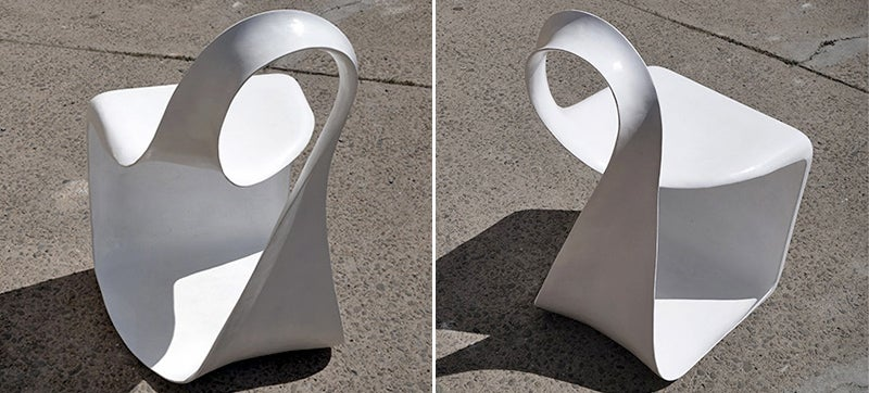 A Twisted Mobius Chair Provides an Infinite Place To Sit