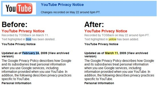 TOSBack Monitors Terms of Service Changes to Google, Facebook, and 42 Others