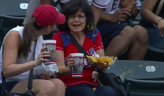 Prince Fielder Foul Ball Leaves Woman Covered In Nacho Cheese