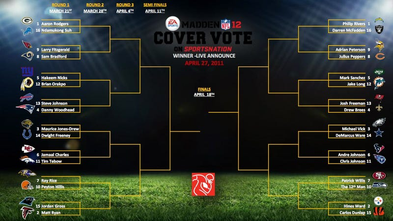Madden's Cover Competition has 32 Candidates, and the Fans are One