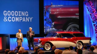 How Leno, Bush, and a '57 Buick stole the show at Gooding's Monterey auction