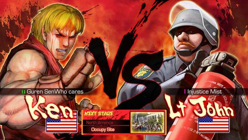 Pepper Spray Cop is an Ass-Kicking Street Fighter