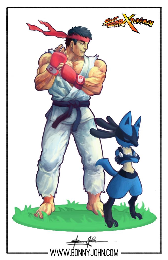 SF x PKMN Day 1! Ryu x Lucario!