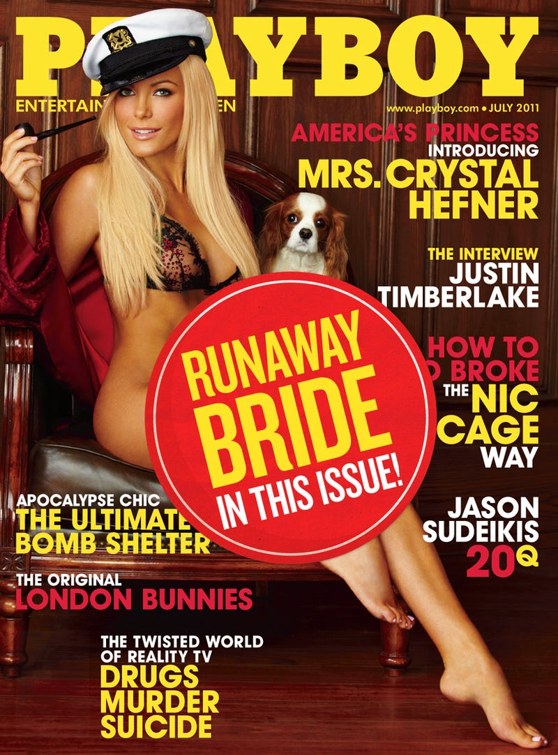 Playboy Proudly Advertises 'Runaway Bride' Issue