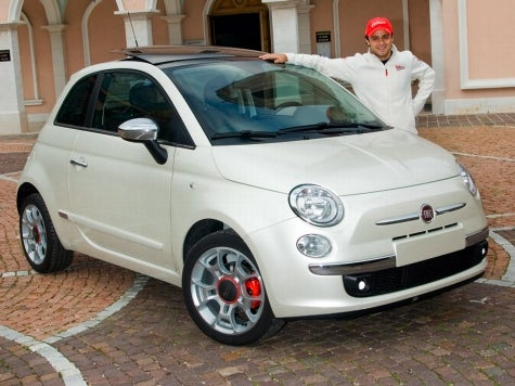 Felipe Massa Gets Fiat 500 and 20 Horses