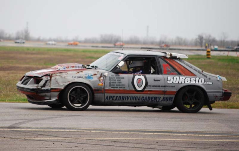 Racing Resumes In Texas: BMW 1600 Right On Corolla FX16's Tail, Pack-O-Mustangs Not Far Behind!