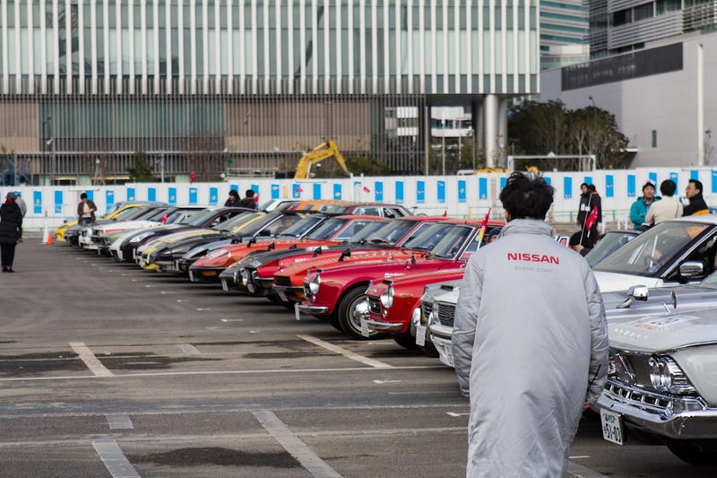 Today I stumbled into a hundred classic Nissans (preview).