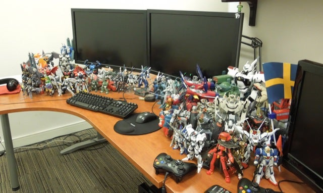 This Game Designer's Desk Is Overrun with Mecha