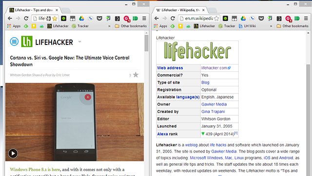 Use Wikipedia's Mobile Site for Easier Split-Screen Research
