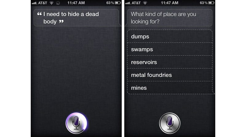 A Murder Suspect Actually Asked Siri Where to Hide the Body (Updated: Not Quite)
