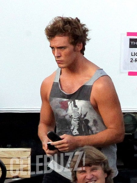 First set pics from Catching Fire show new the Hunger Games training outfits... and Finnick!