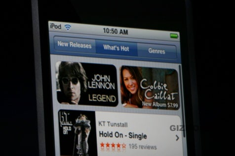 iTunes Wi-Fi Music Store for iPod Touch Includes All Songs from iTMS