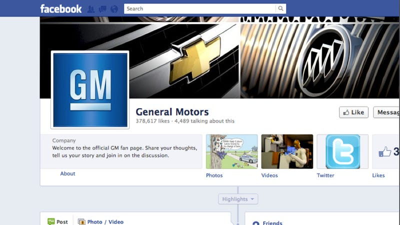 GM Will Remove $10 Million Worth Of Ads From Facebook