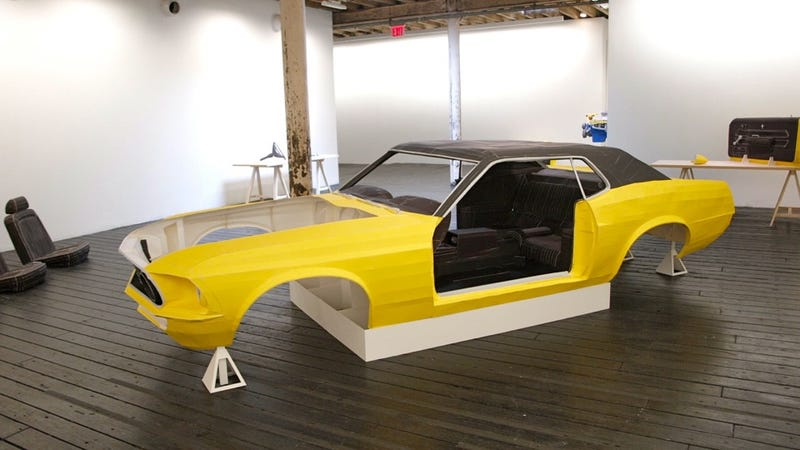 A Ford Mustang Made Out Of Paper: Photos