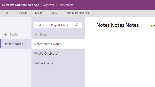 OneNote on the Web Updated with Simpler, More Direct Interface