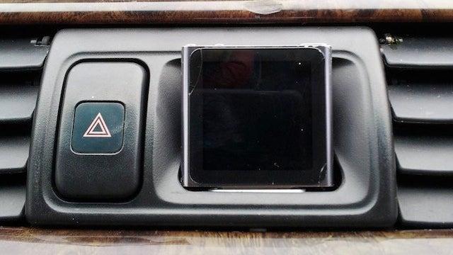 Hack an iPod Nano Into Your Car's Dashboard