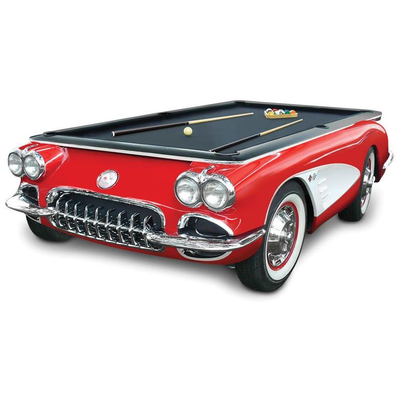For $25,000, The 1959 Corvette Billiards Table... Or a real C1 Corvette.