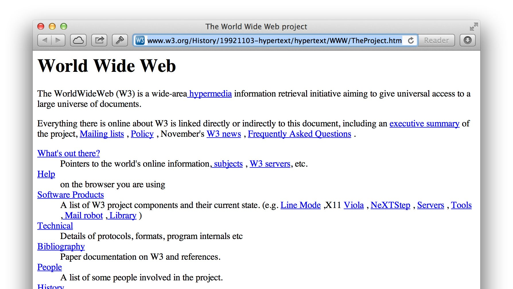 This is the first website ever rebooted for It web page