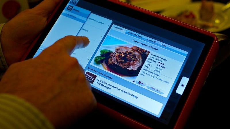 Saucy Splashproof Kitchen Tablet Serves Up Hot Recipe Action