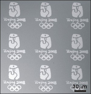 Scientists Demo New Nanoprinting Tech with Microscopic Golden Olympic Logos