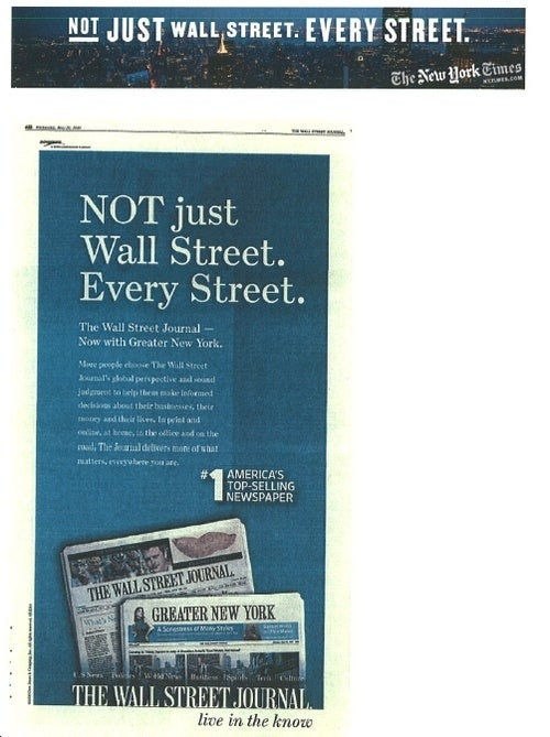 America's Greatest Newspapers Battle Over Marketing Slogan