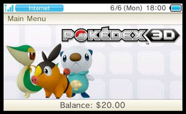 And These Are America's 3DS eShop Launch Applications (Pokémon!)