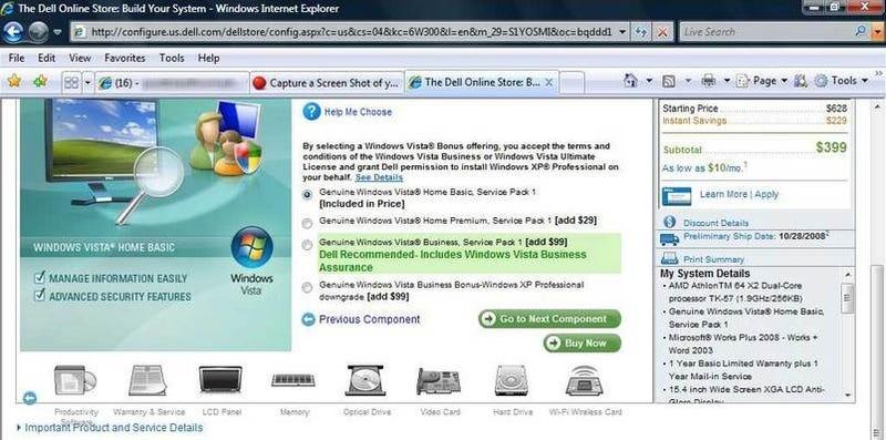 Microsoft, Dell agree: Windows XP is worth more than Vista