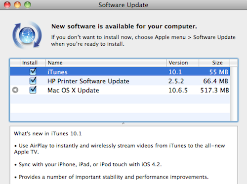 iTunes Updates to 10.1, Adds AirPlay, iOS 4.2 Support, and the Removal of Ping