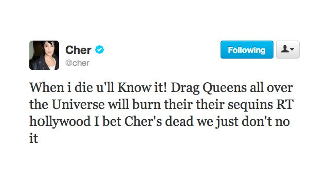Cher Predicts the Reaction to her Death and It's a Real Drag