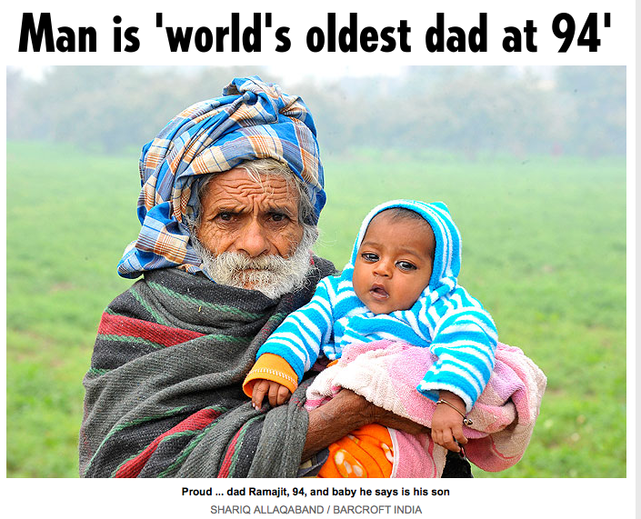 94-Year-Old Man Might Be the World's Oldest Dad