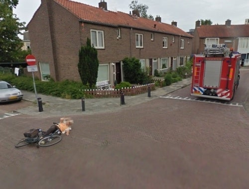 Google Street View Captures Fire Truck Hit and Run With an Old Lady On a Bike